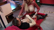 Big Boobs Tight Pussy Slut sits on a big cock after getting her pussy licked and rides it until she gets the huge cumshot