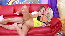 17655 Blonde Nathaly Cherie fuck young dude on the sofa preview
