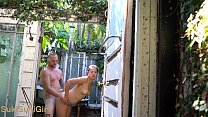Public fucking outdoors in a shower @sukisukigirlreal @andregotbars preview image