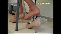Cams4free.net - Secretary Shoeplay Under Desk