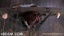 Gagged and bounded babe needs wild pussy gratifying