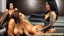 Huge boobs blonde whore Alura enjoyed by three ...