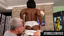 Ebony Plumper Marie Leone Has Her Huge Tits Worshiped in a Sizzling Rubdown Preview
