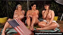 BBWs Angelina Castro Sam GG & Lexxxi Share Dirty Camp Tales!