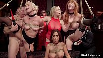 redhead doggystyle | Slaves vibed and fucked in bdsm orgy thumbnail