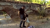 Handcuffed naked slave public d.