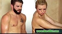 Hot blondie masseuse sucks cock - Nathan Bronson & Tiffany Watson