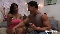Cody Bryan Grinds Her Big Black Ass On Her White BFs Dong