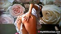 Very horny milf brunette masturbating on webcam MyMilfSexCam.com Vorschaubild