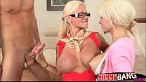 8283 Nikita Von James and Rikki Six threesome with thick schlong preview