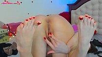Camgirl Sensual Play Sex Toys after Work - Closeup
