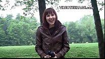 girl does her first strip casting video Vorschaubild