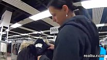 Luscious czech girl gets seduced in the mall and plowed in pov