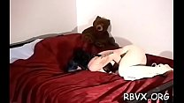 Mature slut gets titillated whilst being belted tight