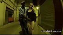 Sucking my black lover in the street