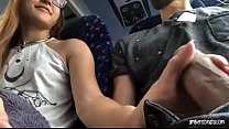 BLONDE TEEN BLOWJOB AND SWALLOW ON PUBBLIC BUS