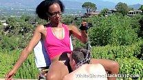 A white slave under black feet thumbnail