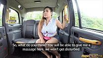 Busty thai masseuse works her magic in the fuck taxi