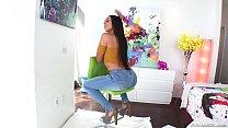 Latina diva has leg shaking anal orgasms - Lill...
