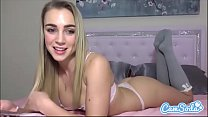 Zoey Taylor big ass blonde teen finger fucking tight tiny pussy porn thumbnail