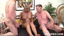 Chesty german milf take two cocks