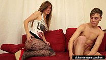 Superb teen babe gets fucked and facialized