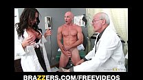 Beautiful doctor's assistant Destiny Dixon fucks her hung patient porn image
