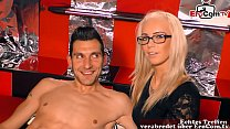 German threesome casting surprise for young fri...
