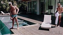 NoirMale Big Dick Black Hunk Homeowner Fucks Poolboy Seth Santoro