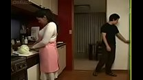 Japanese Stepmom and Son in Kitchen Fun pornhub video