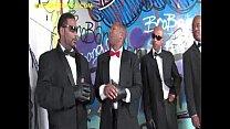 Blonde Blows Group of Black Men