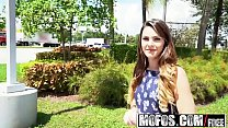 Mofos - Public Pick Ups - Innocent Brunette Gags on Cock starring  Rayna Rose