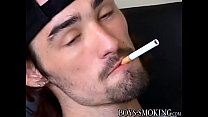 Hairy skaters Ian Madrox and Dustin Kilimin smoke & stroke
