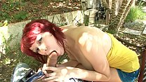Hot little redhead Zoey Nixon gets fucked hard on the sofa Image