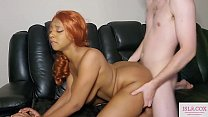 Download video bokep Cute Ebony Redhead IslaCox Takes Huge White Coc... 3gp terbaru
