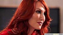 Kendra James Redhead Mom Pussy Tribbing Daughter   LesbianCums.com