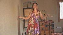 Hippie dress on stripping teen thumbnail