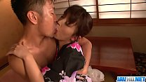 Marikaґs japan girl blowjob ends in a pussy creampie - More at javhd.net