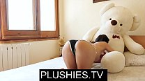 Nude Yoga Valentina Bianco sex with teddy bear Miguel image