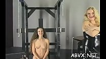 Tight pussy extreme bondage in home xxx clip