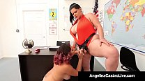 Curvy Cuban Angelina Castro Bangs Gia Love With A Strap On!