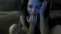 whore Alexandra Mihaylovska slapping her filthy whores face