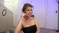 Stunning big titty MILF fucks the cable guy