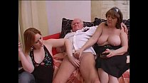 Crazy orgy with grandpa in a dirty and perverse family! preview image