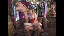 Sexy blonde teen in red latex lingerie Erika Ko...