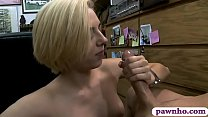 Petite blondie babe nailed by pawn man at the pawnshop - 9Club.Top