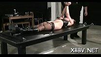 Complete amateur bdsm action along large breasts woman