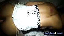 Big boobs amateur thai ladyboy bareback anal fucked preview image