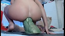 Girls4cock.com *** She Takes the biggest dildo in the world in her tight asshole thumbnail