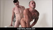 Two Hot Stepbrothers Kirk Cummings & Jack Hunter Fuck While Taking Family Photo For Daddy